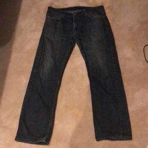 Levi's 514 36x32 dark blue jeans